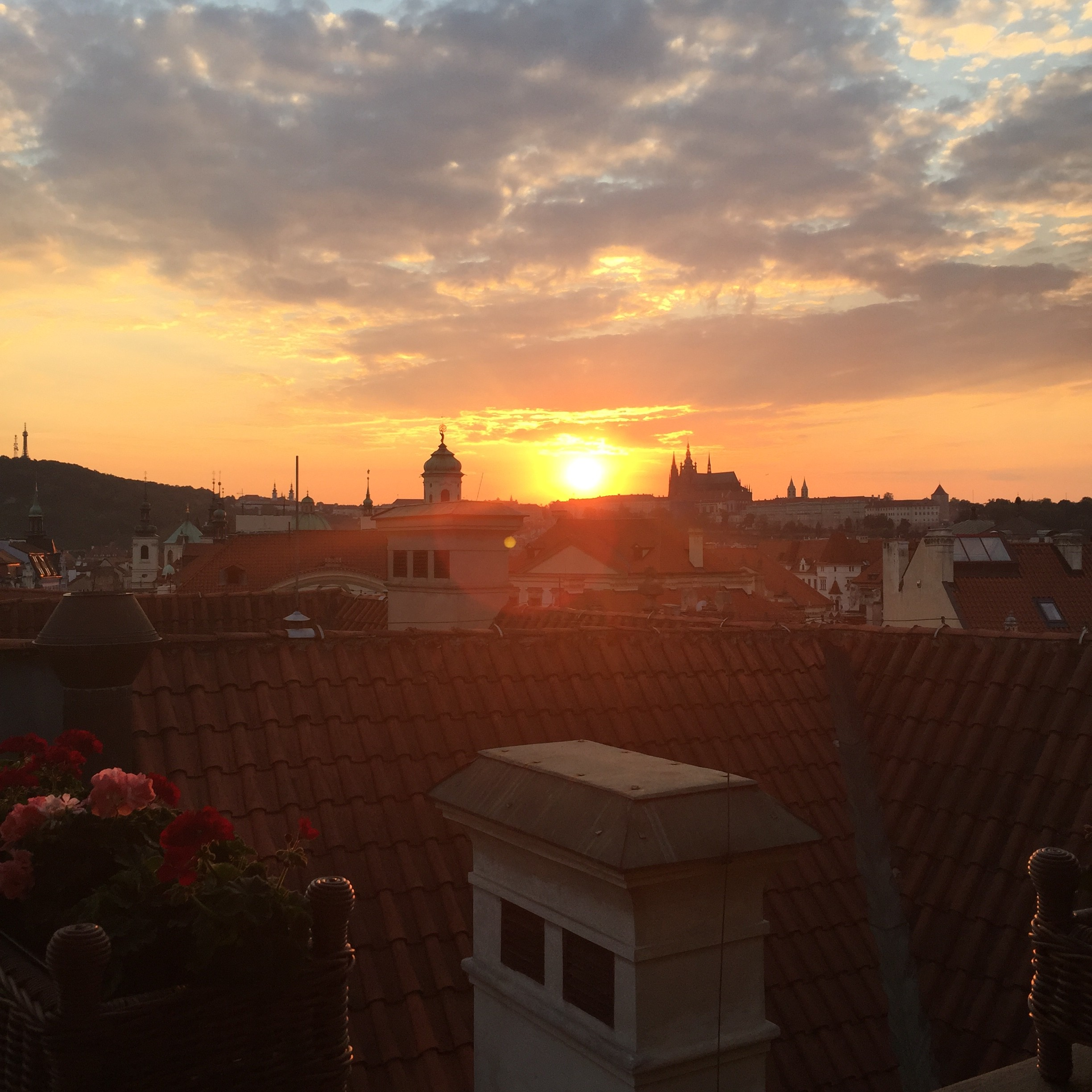 View from Terasa U Prince, Prague | The Style Scribe