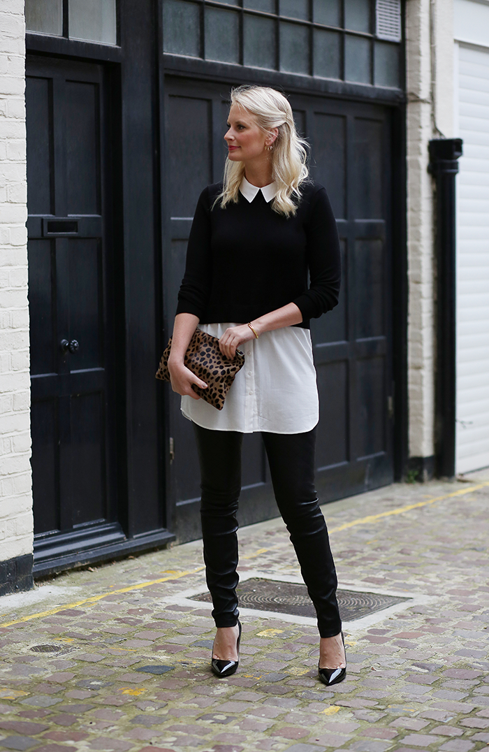 Oasis Layered Top + Leather Leggings | The Style Scribe