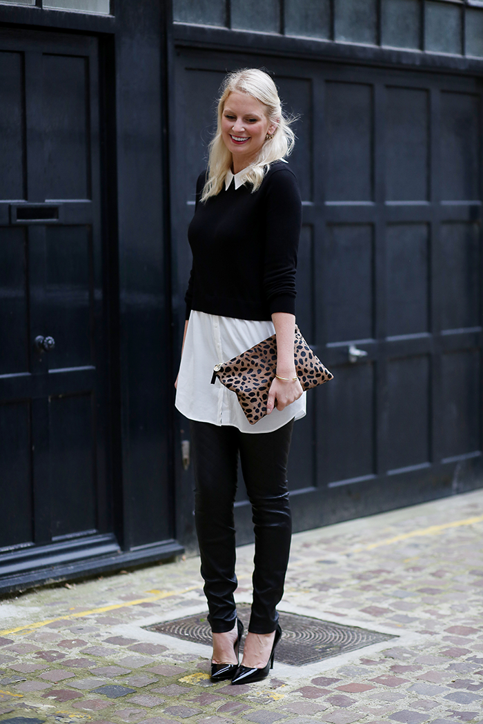 Oasis Layered Top + Leather Leggings   The Style Scribe