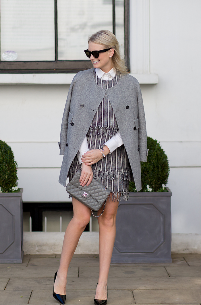 Tweed Fringe Dress | The Style Scribe