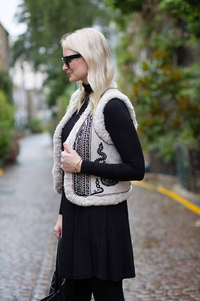 Faux Fur Embroidered Vest | The Style Scribe