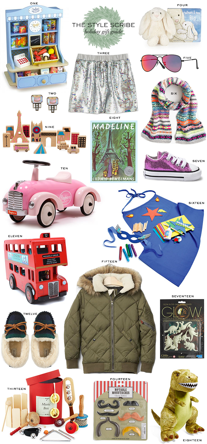 Holiday Gift Guide // For The Kids   The Style Scribe