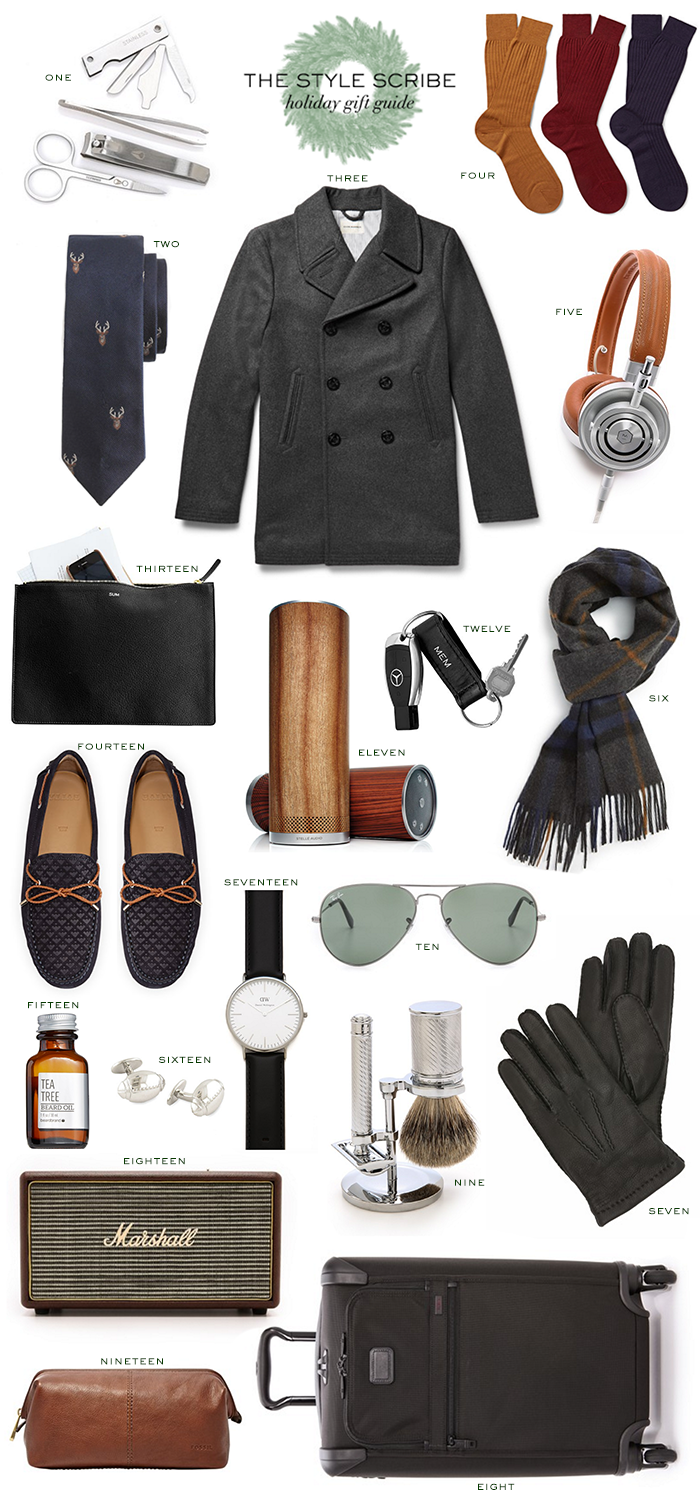 Holiday Gift Guide // For Him   The Style Scribe