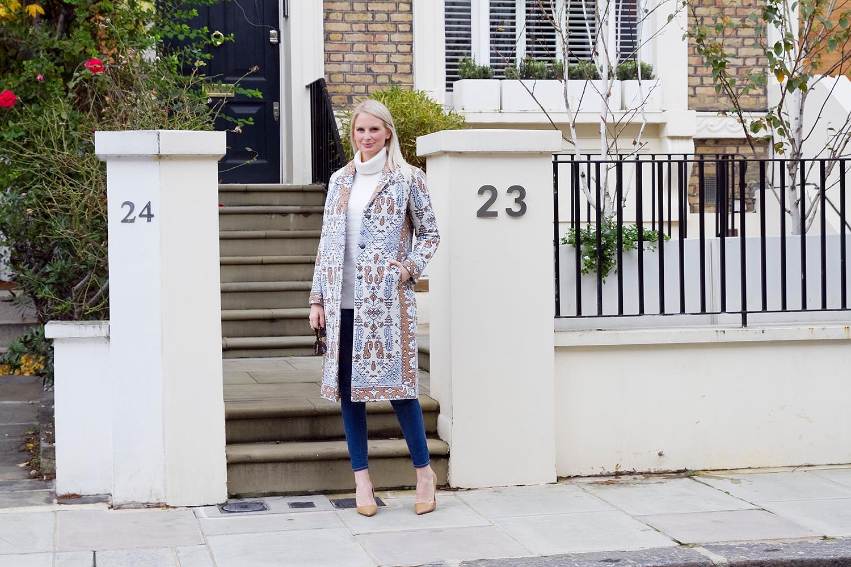 Jacquard Coat | The Style Scibe