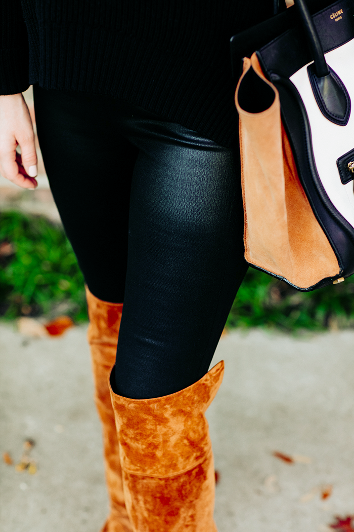 Coated Leggings | The Style Scribe