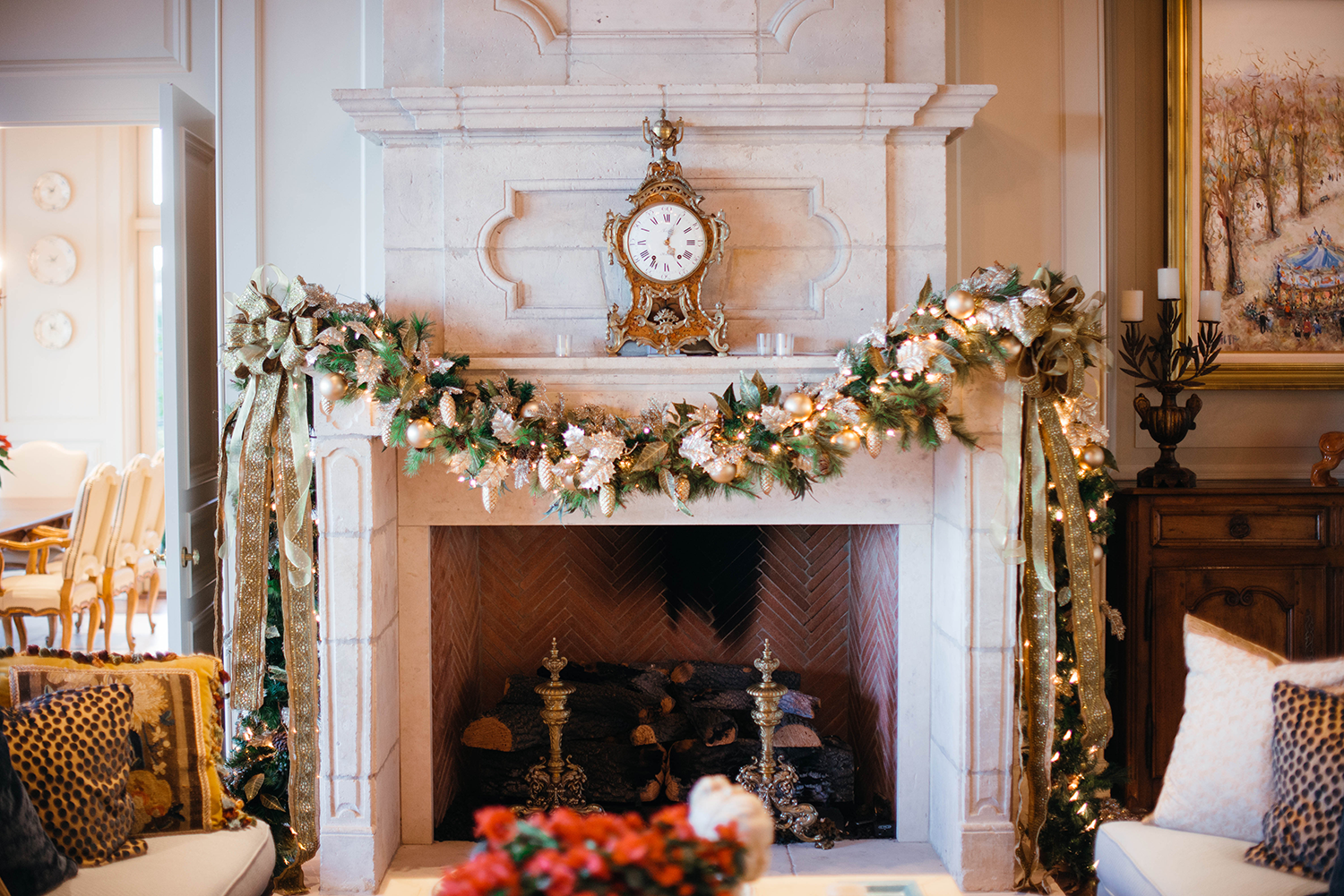 Classic Christmas Decor | Mantle Decoration Ideas