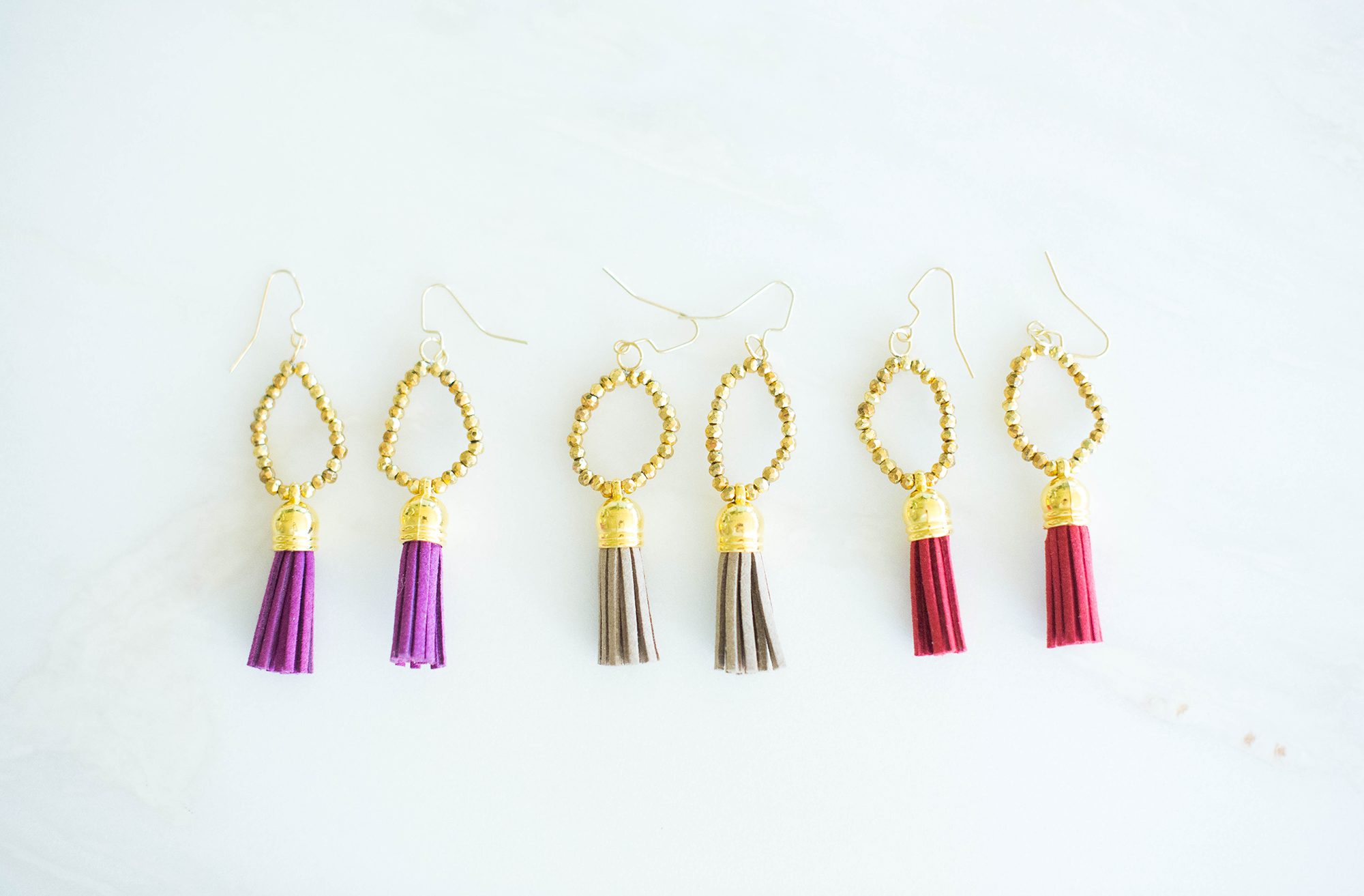 Beaded Circle Tassel Earrings | The Style Scribe