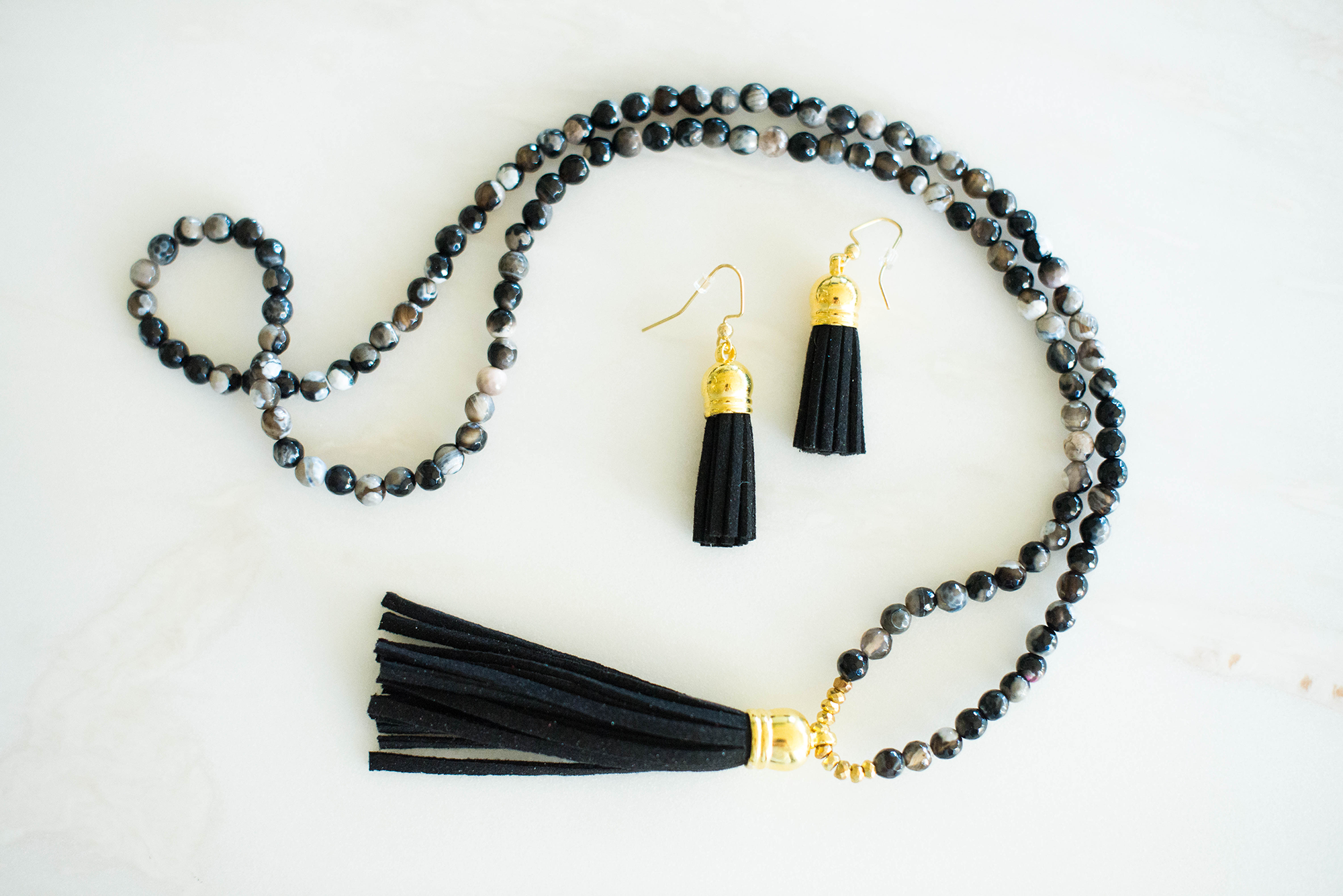 Laura Windsor Beaded Circle Tassel Earrings | The Style Scribe