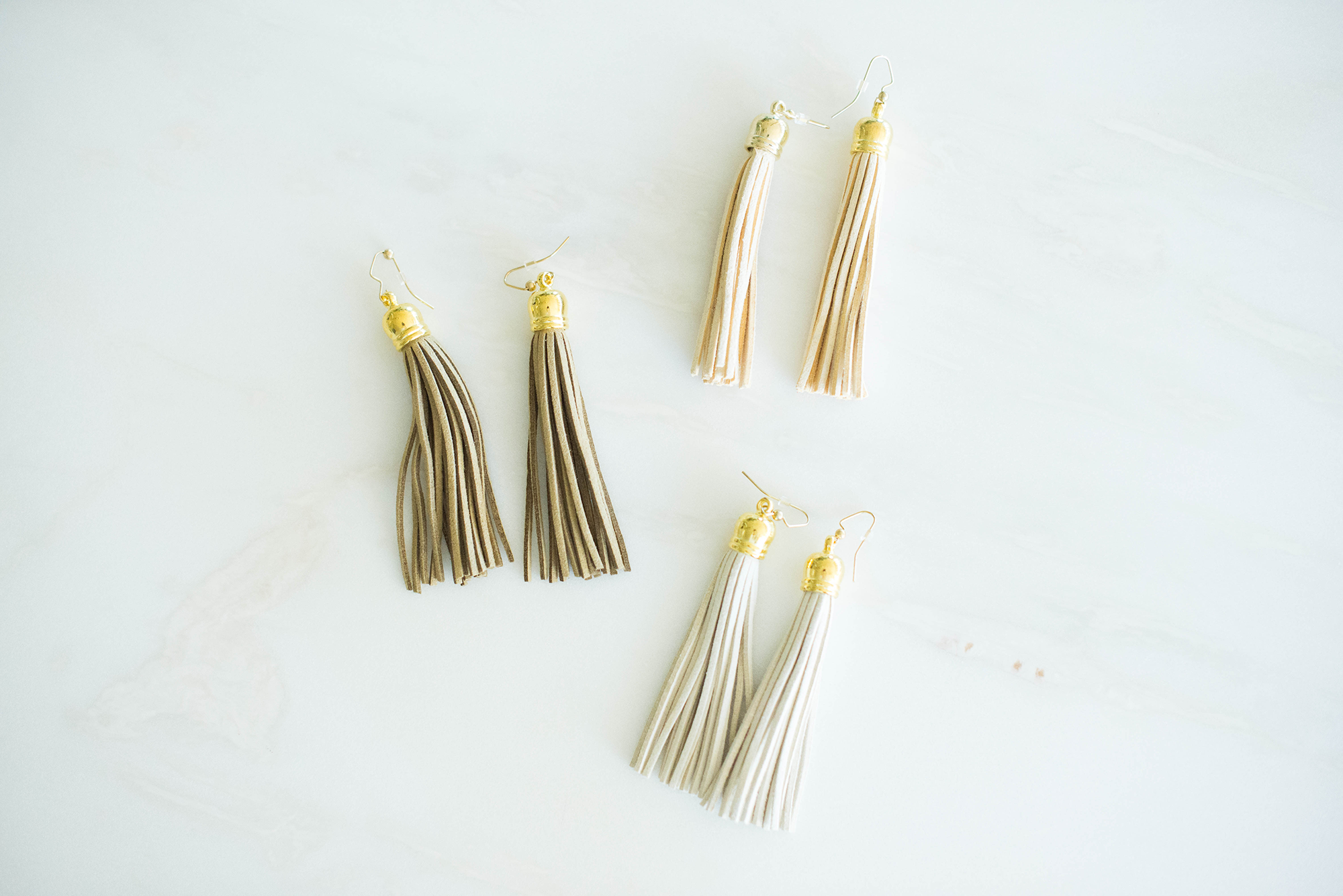Laura Windsor Neutral Tassel Earrings | The Style Scribe