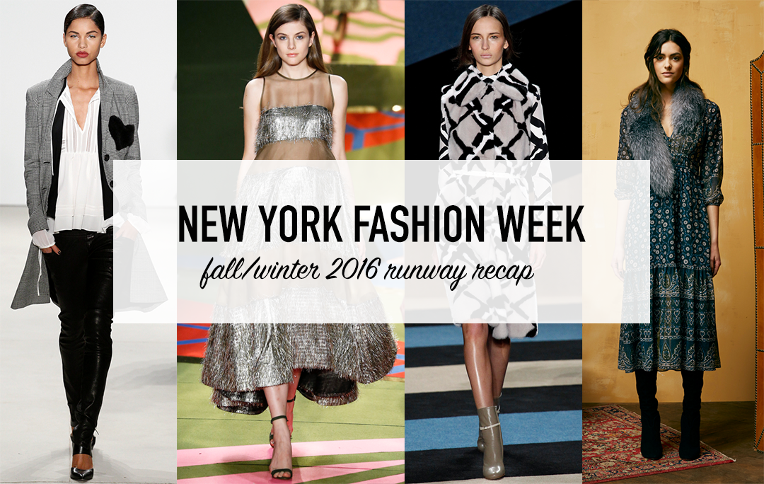 New York Fashion Week Fall Winter 2016 Review