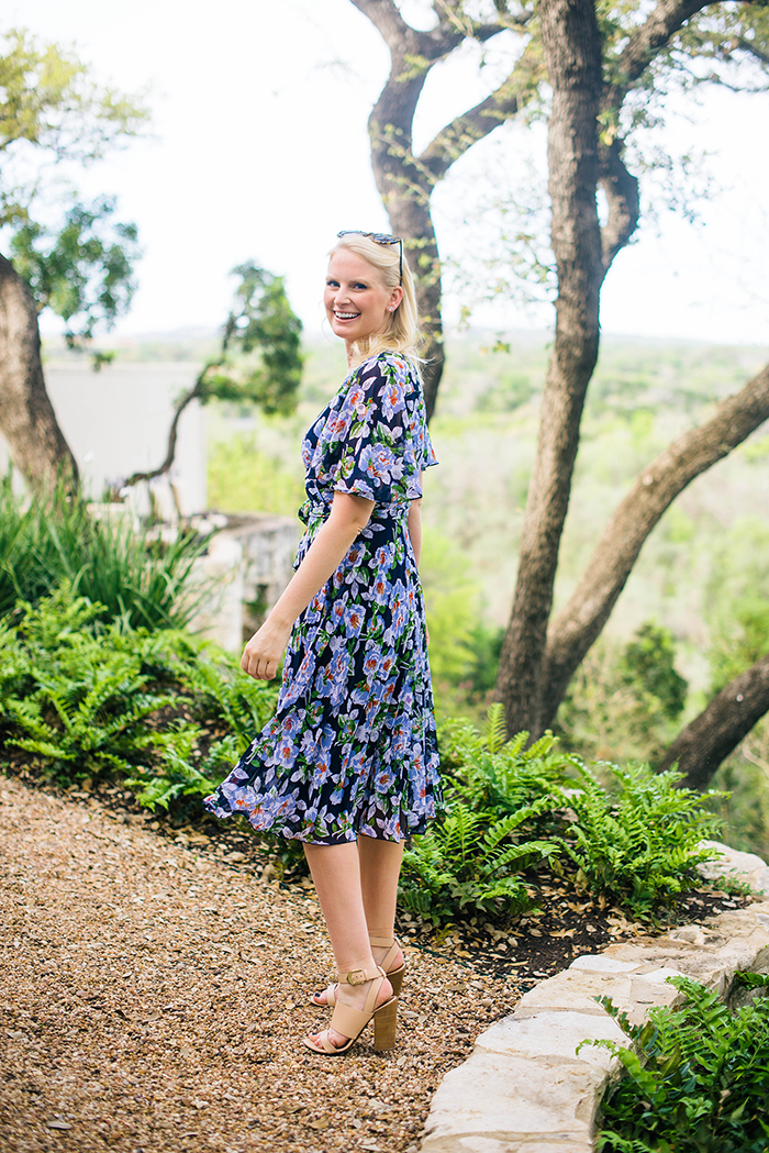 Floral Wrap Dress | The Style Scribe