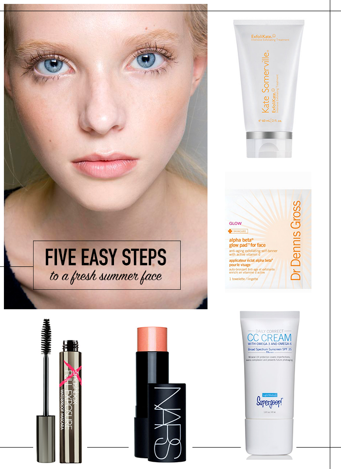 "A ""No Makeup"" Makeup Look For Summer in Five Easy Steps 