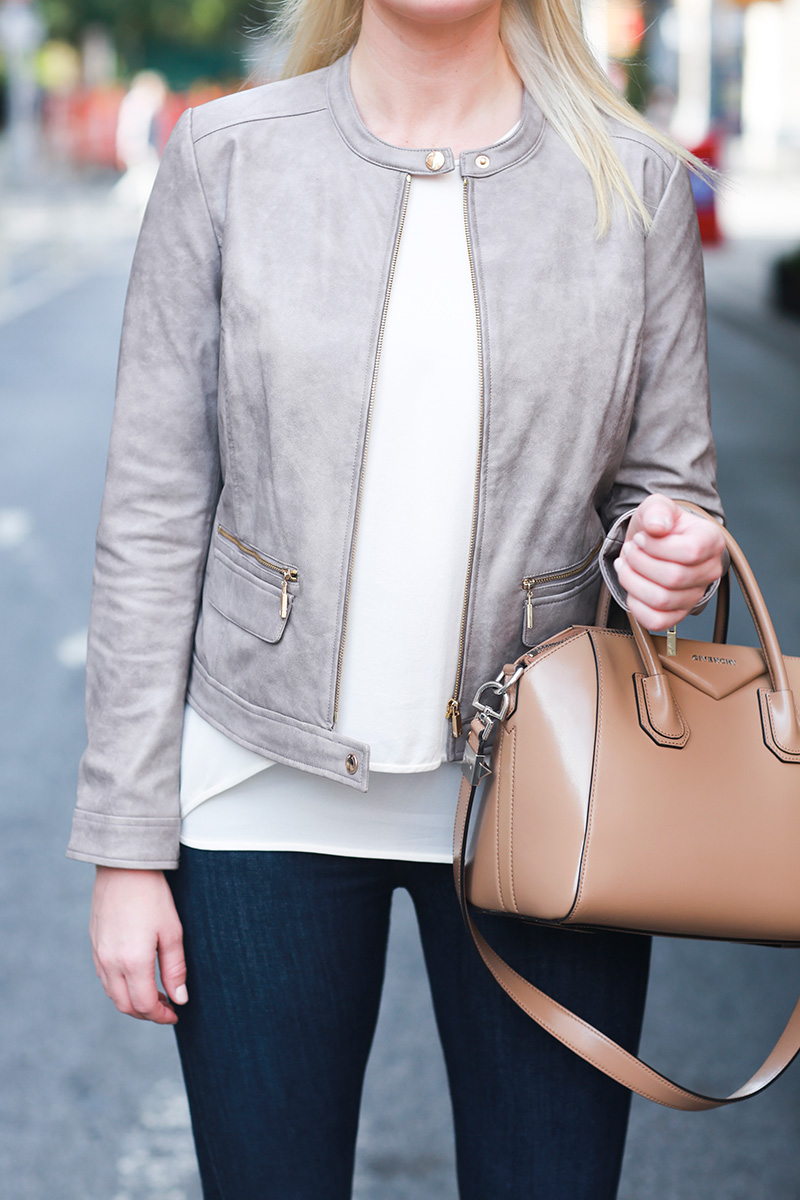 Feminine Leather Jacket | The Style Scribe