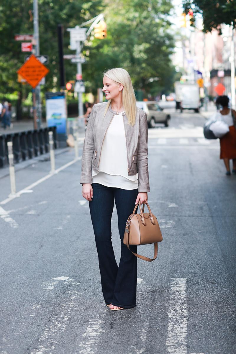 Feminine Leather Jacket | The Style Scribe