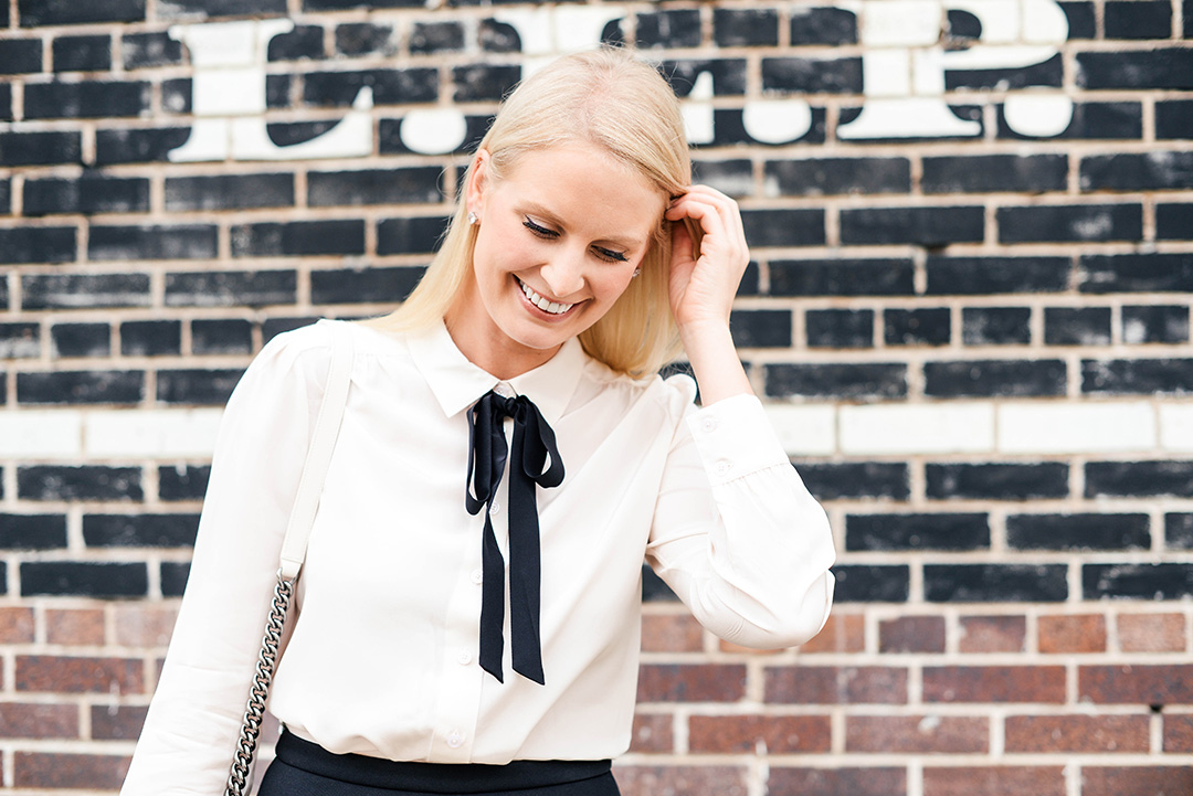 Bow Tie Blouse | The Style Scribe