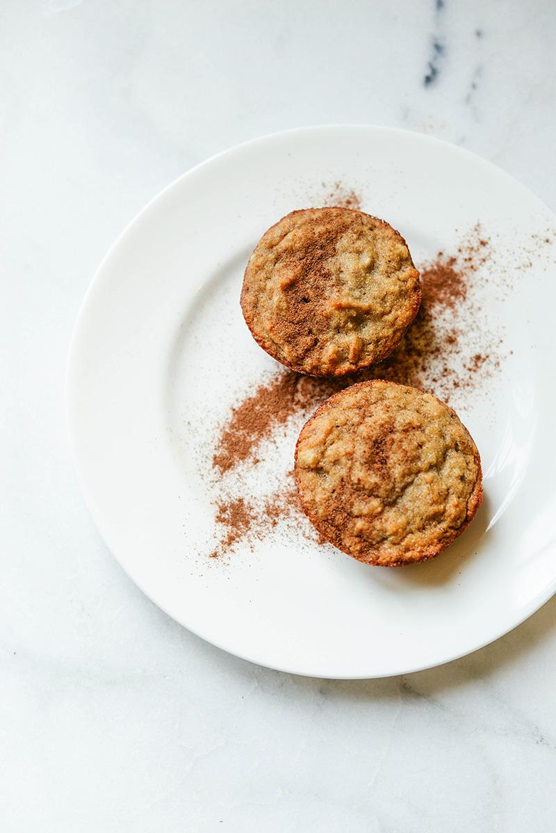 Paleo + Gluten-Free Banana Cinnamon Muffins | The Style Scribe
