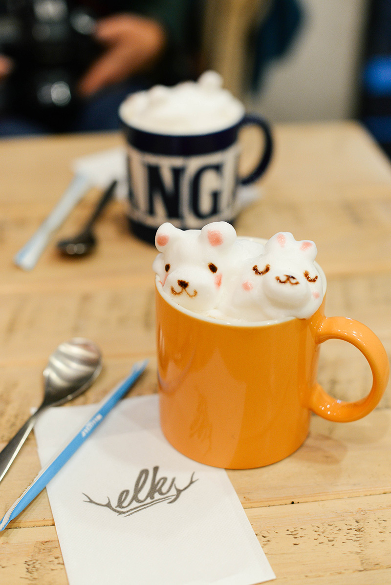 elk cafe kyoto japan 3d cappucino drinks