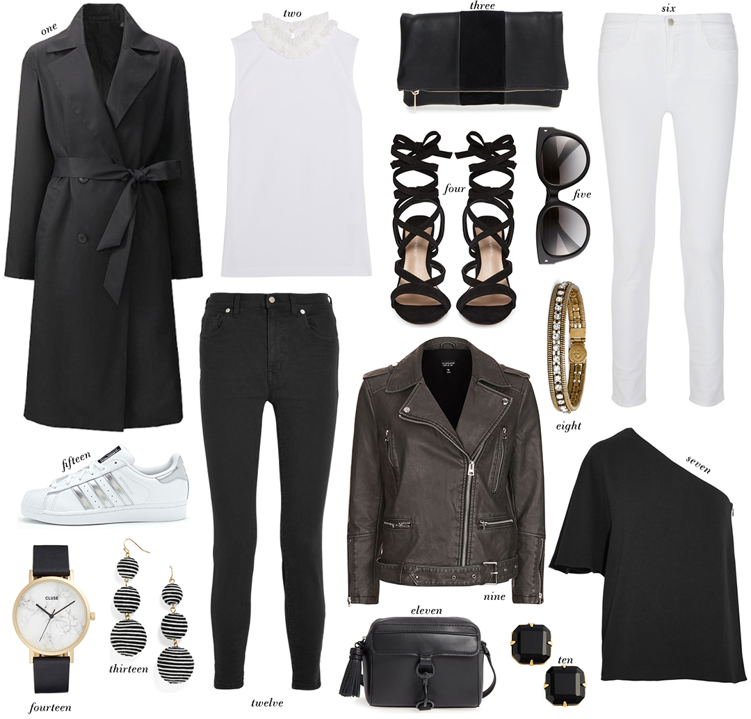 Black and White Basics Under $200 | The Style Scribe