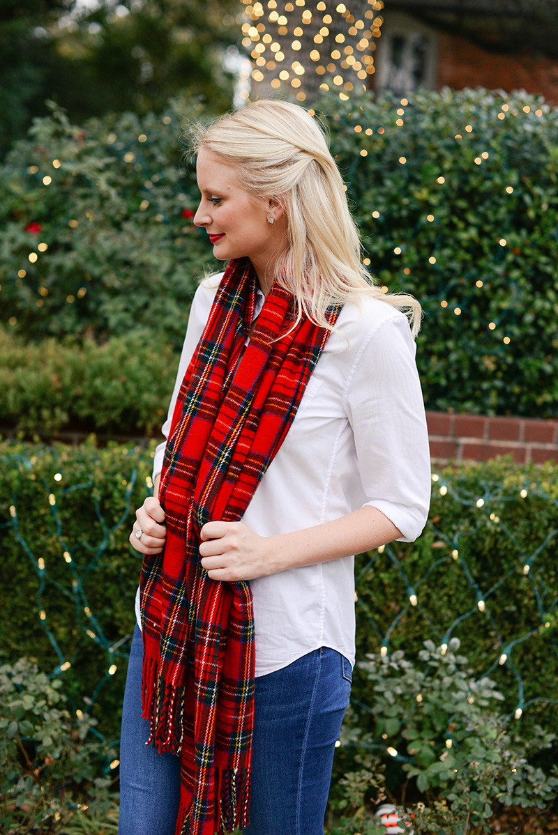 christmas plaid casual outfit