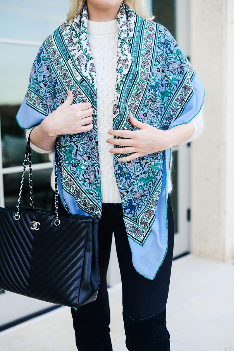 Hermès blue scarf
