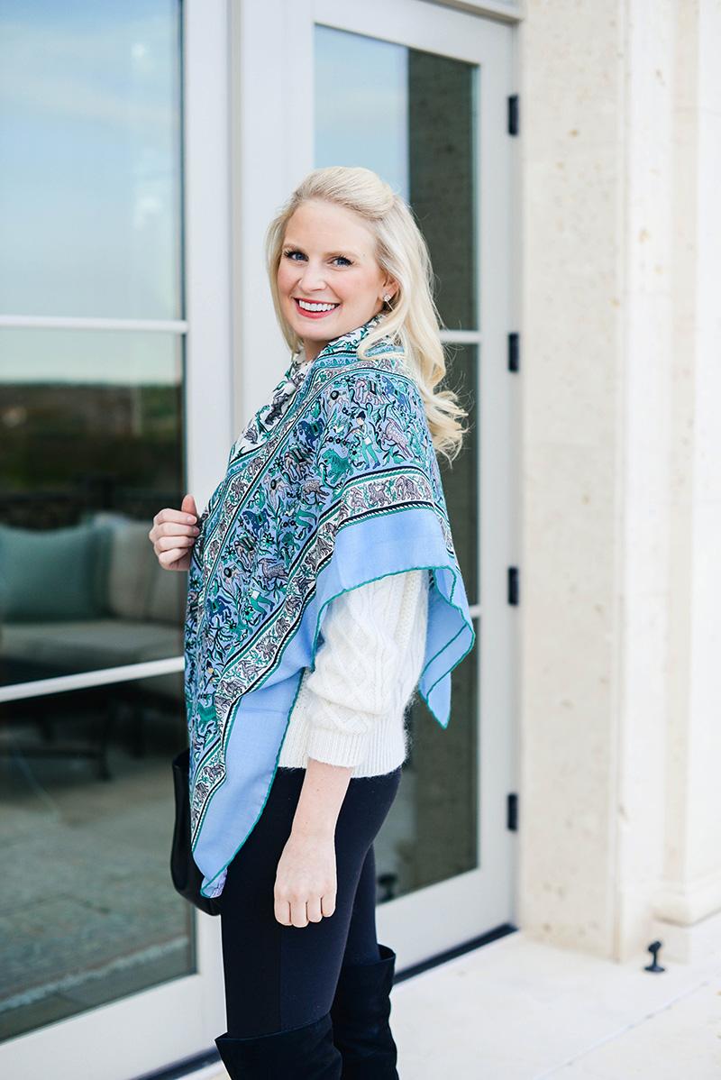 Hermès printed cashmere scarf