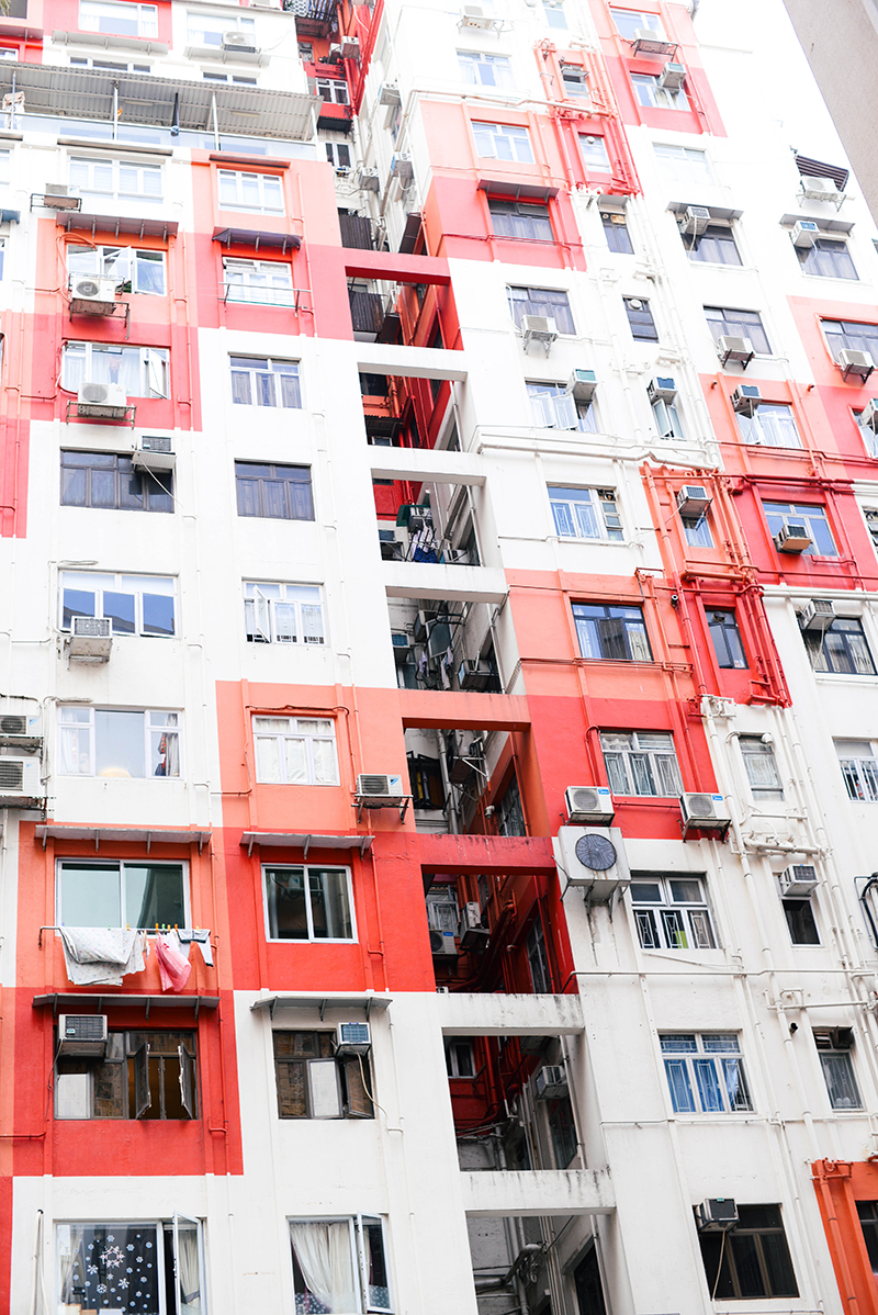 colorful buildings in hong kong