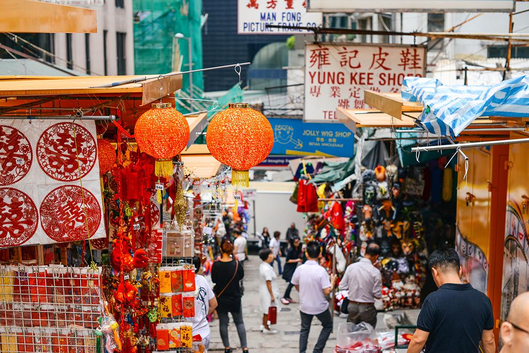 hong kong market shopping