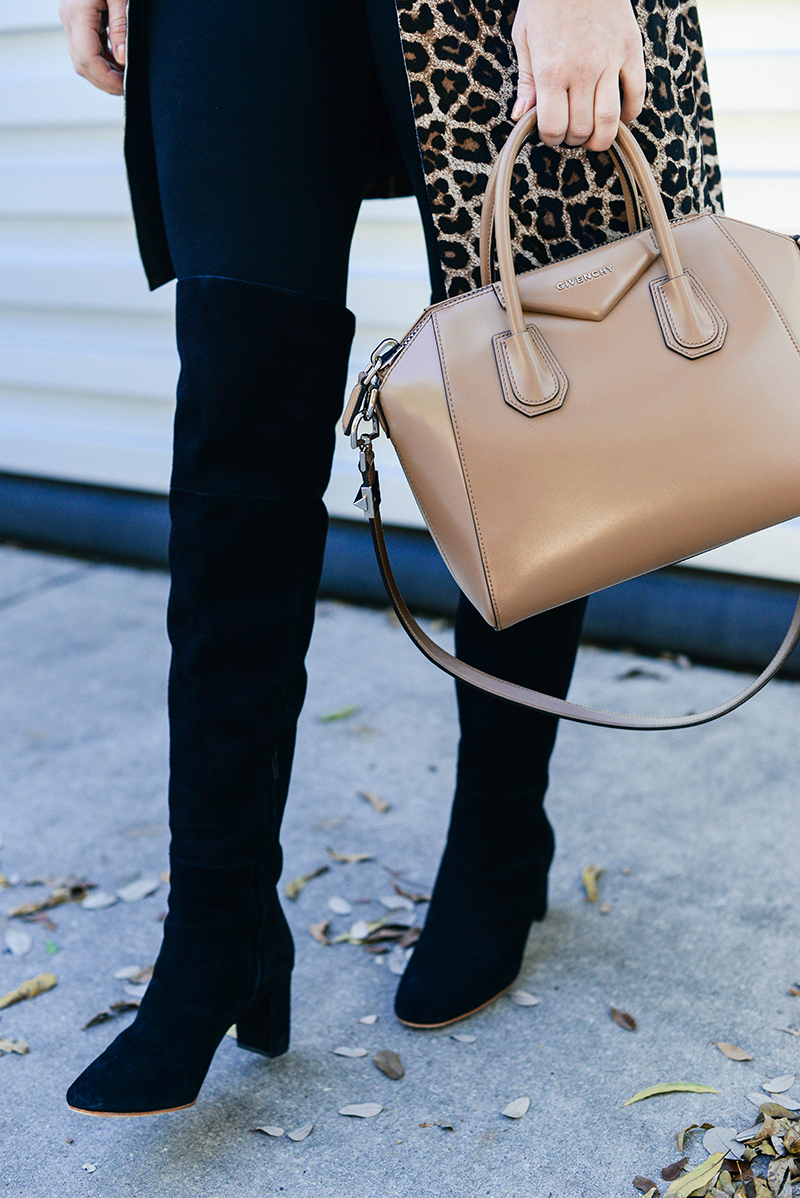 black heeled over the knee boots