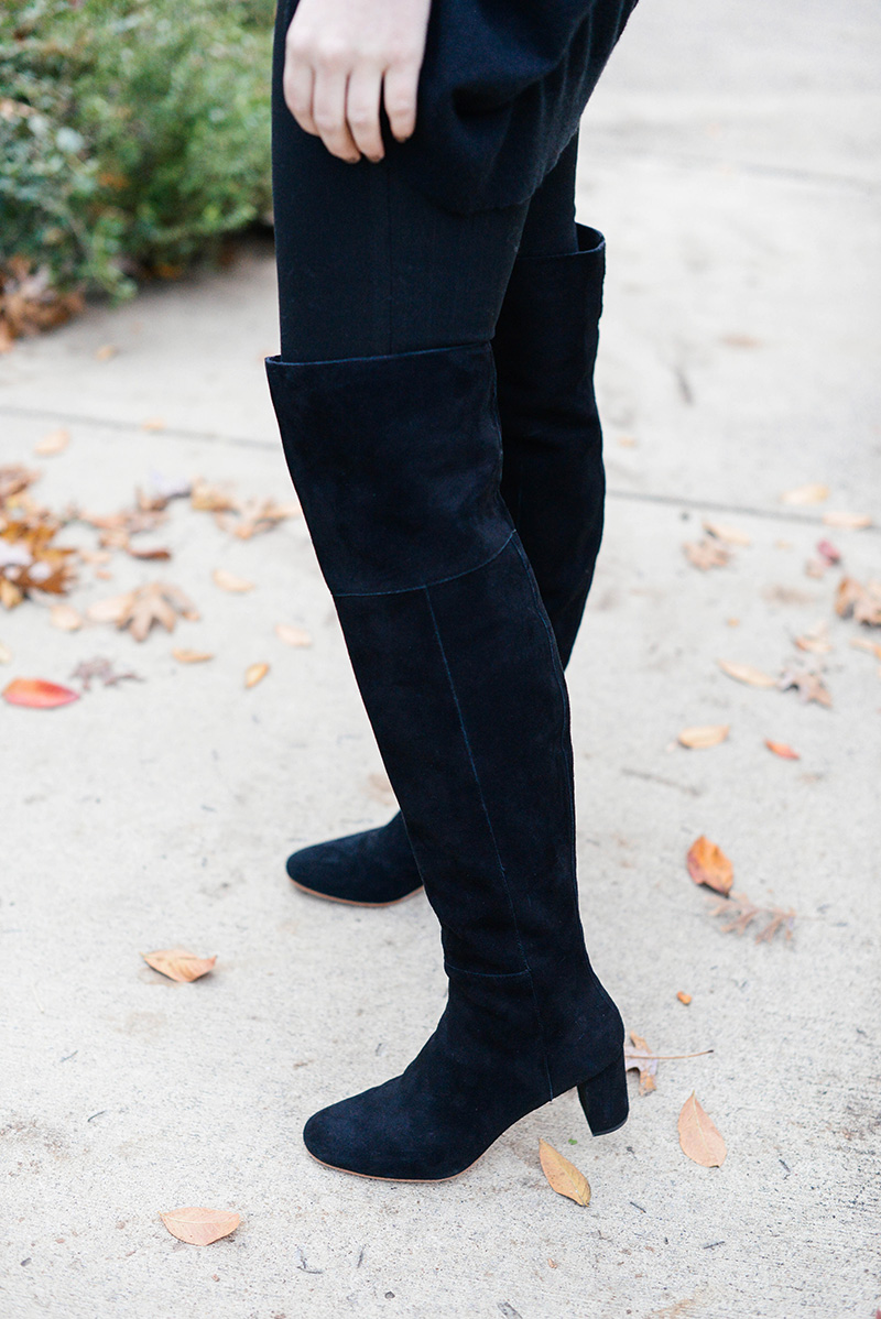 loeffler randall black suede over the knee boots