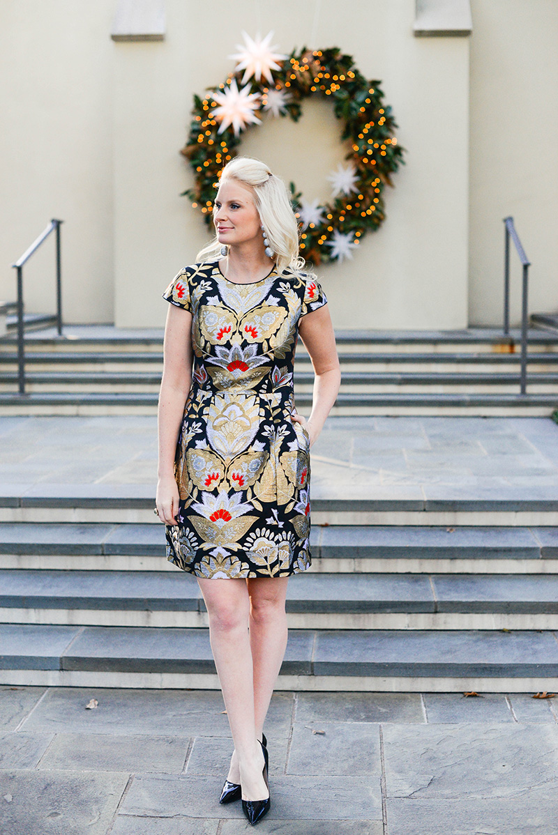 ted baker brocade dress