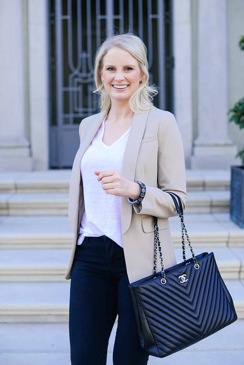 Cute Business Casual Outfit Ideas | Chic Blazer Jeans And Heels