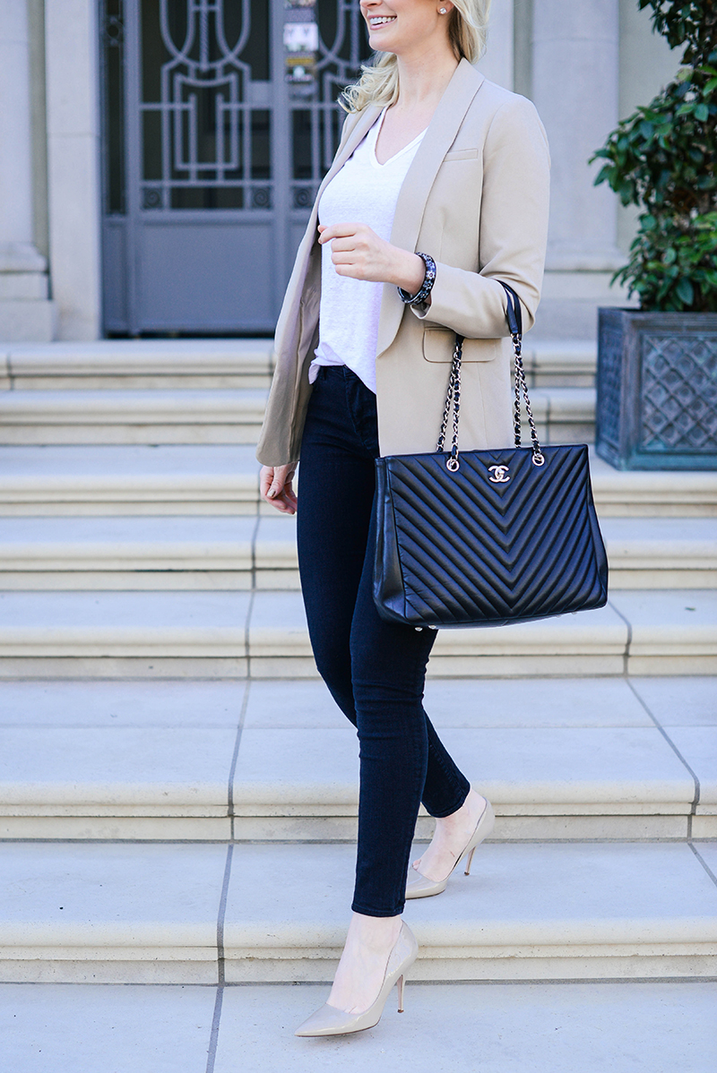 Cute Business Casual Outfit Ideas | Chic Blazer, Jeans and Heels