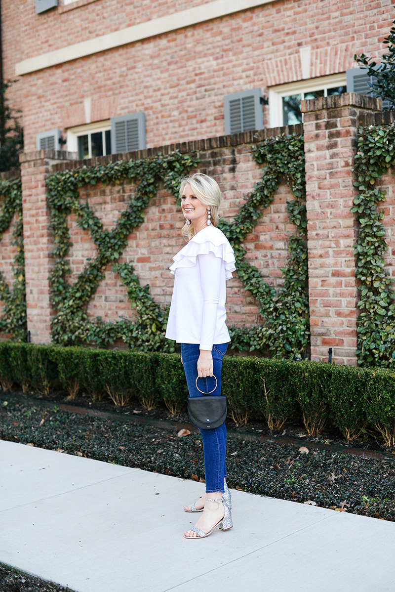 White One Shoulder Ruffle Top | The Style Scribe