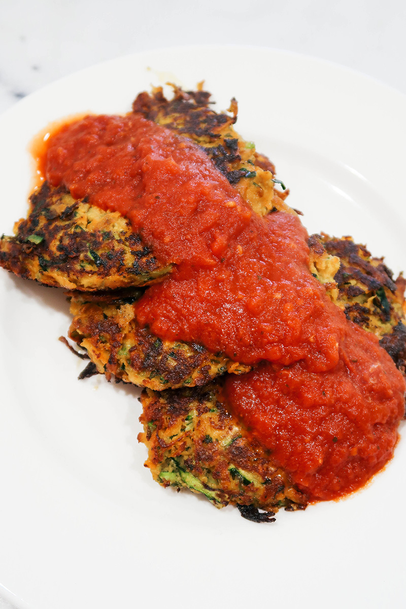 Zucchini Sweet Potato Latkes | The Style Scribe