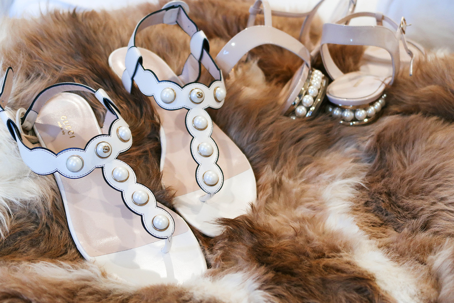 Pearl-Embellished Gucci Sandals | The Style Scribe