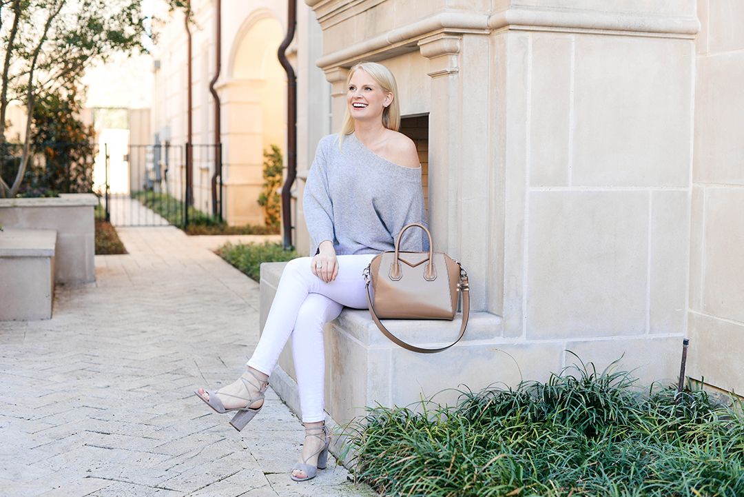 Transitioning White Jeans To Spring | The Style Scribe