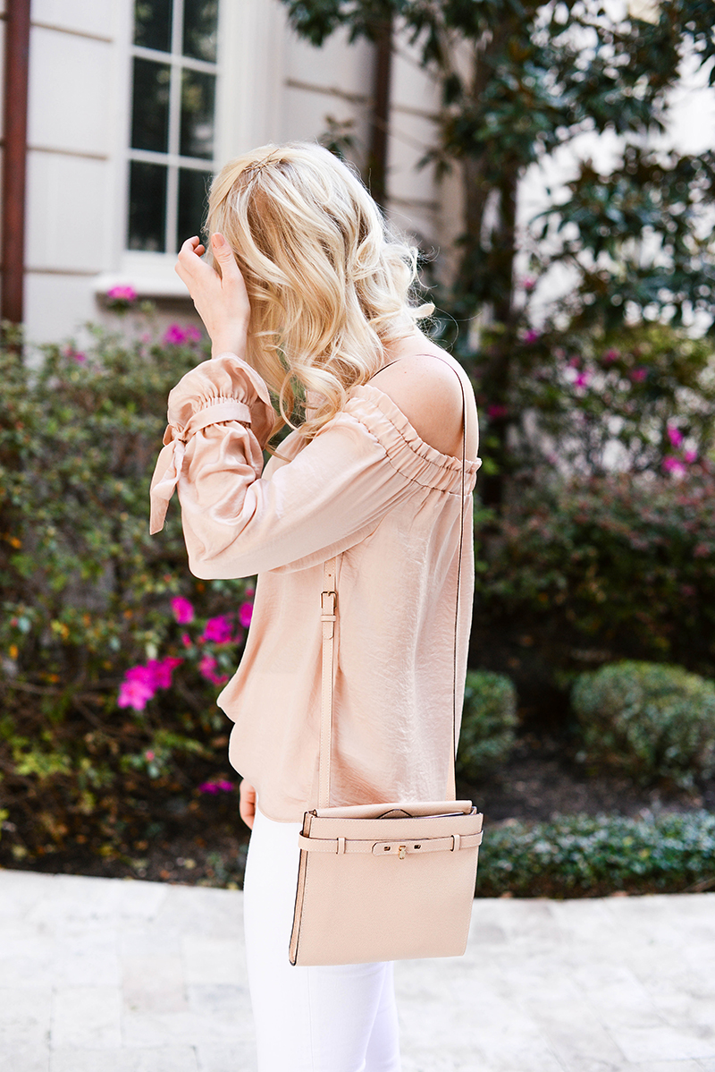 Blush & White Outfit | The Style Scribe
