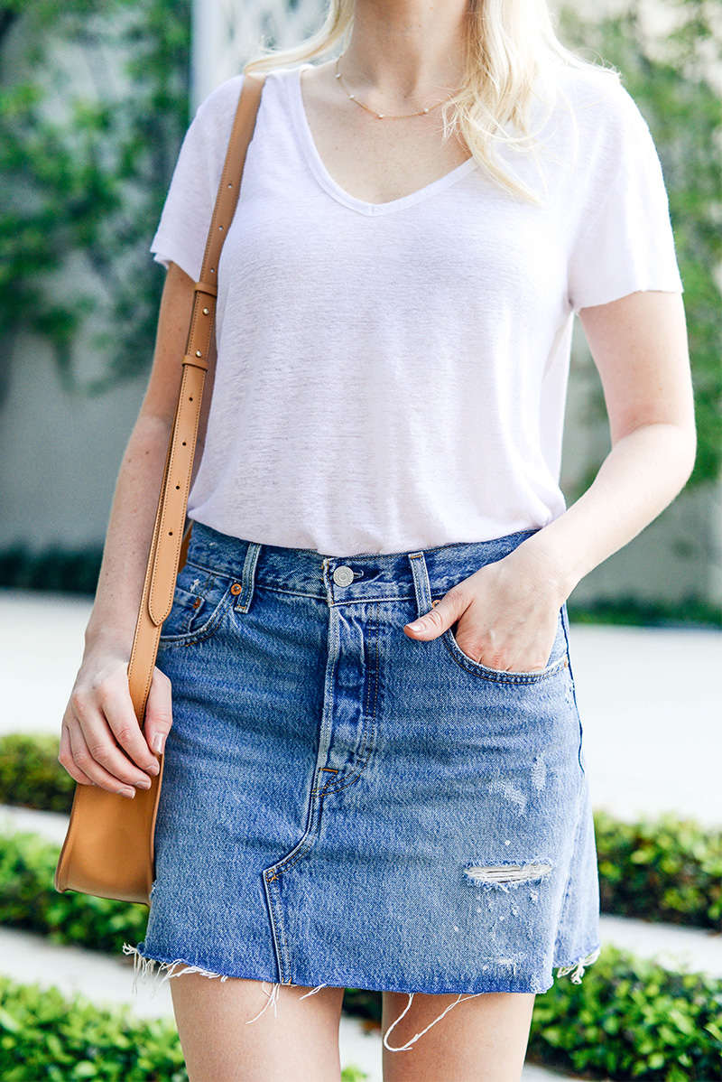 Levi's Deconstructed Denim Skirt | Jean Miniskirt Trend 2017
