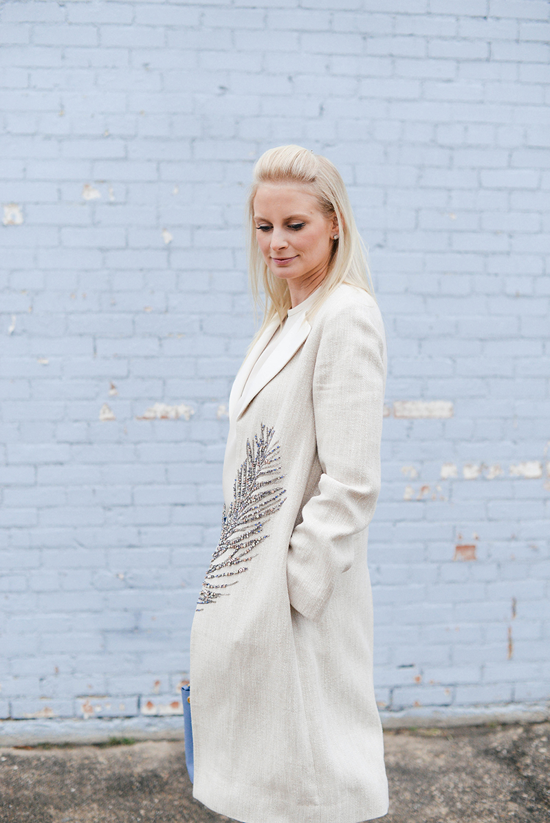 Tory Burch Feather Coat | The Style Scribe