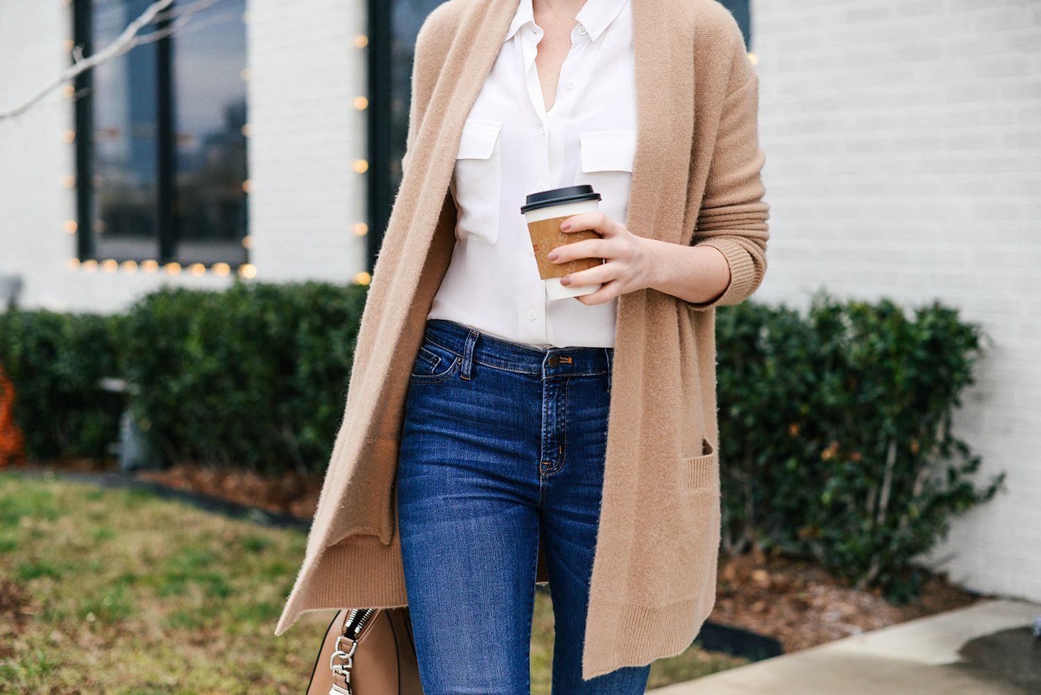 Casual Camel Cardigan | The Style Scribe