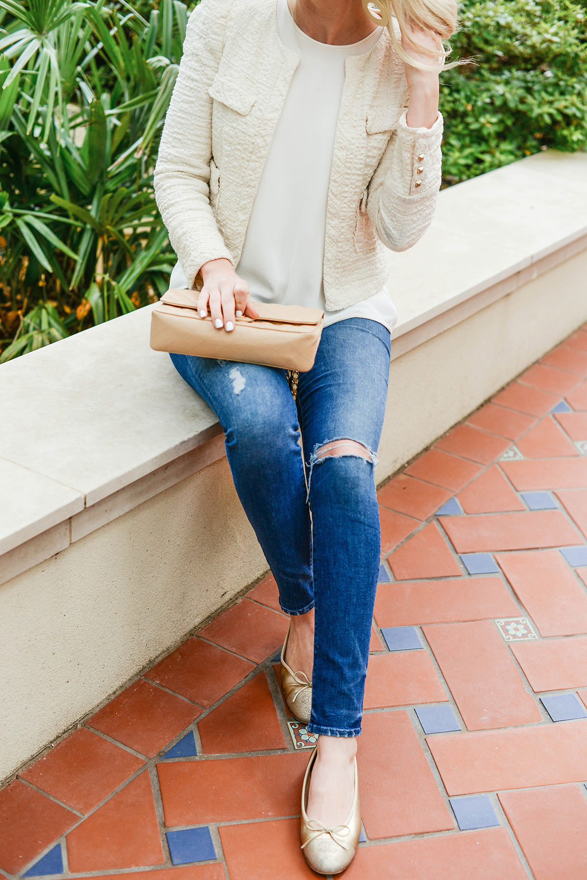 Gold Chanel Ballet Flats | The Style Scribe