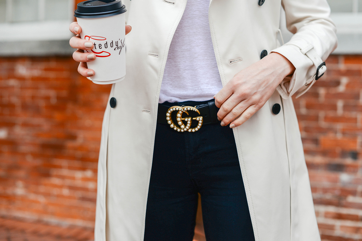 Gucci Pearl Double G Leather Belt | The Style Scribe