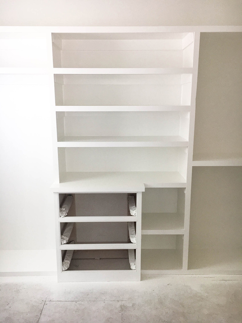 Master Closet Shelving | The Style Scribe