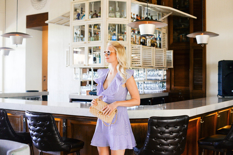Wayf Stripe Ruffle Dress | The Style Scribe
