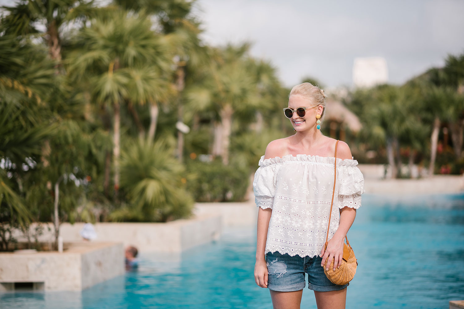Eyelet Off-The-Shoulder Top | The Style Scribe