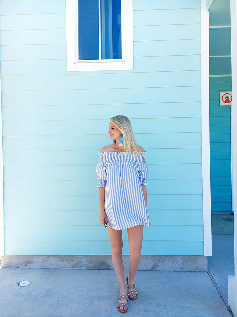 Off-The-Shoulder Striped Cover Up | The Style Scribe