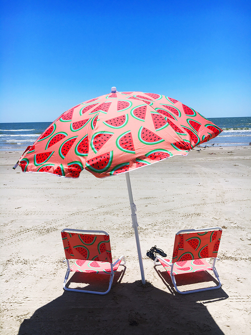 Target Watermelon Print Beach Umbrella | The Style Scribe