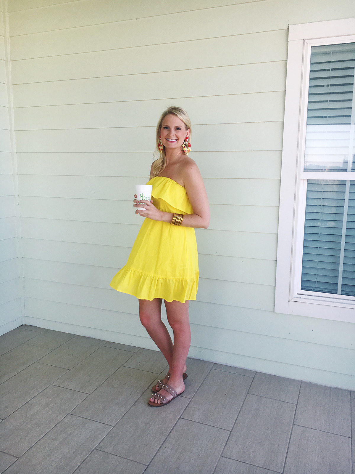 Yellow Strapless ASOS Dress | The Style Scribe