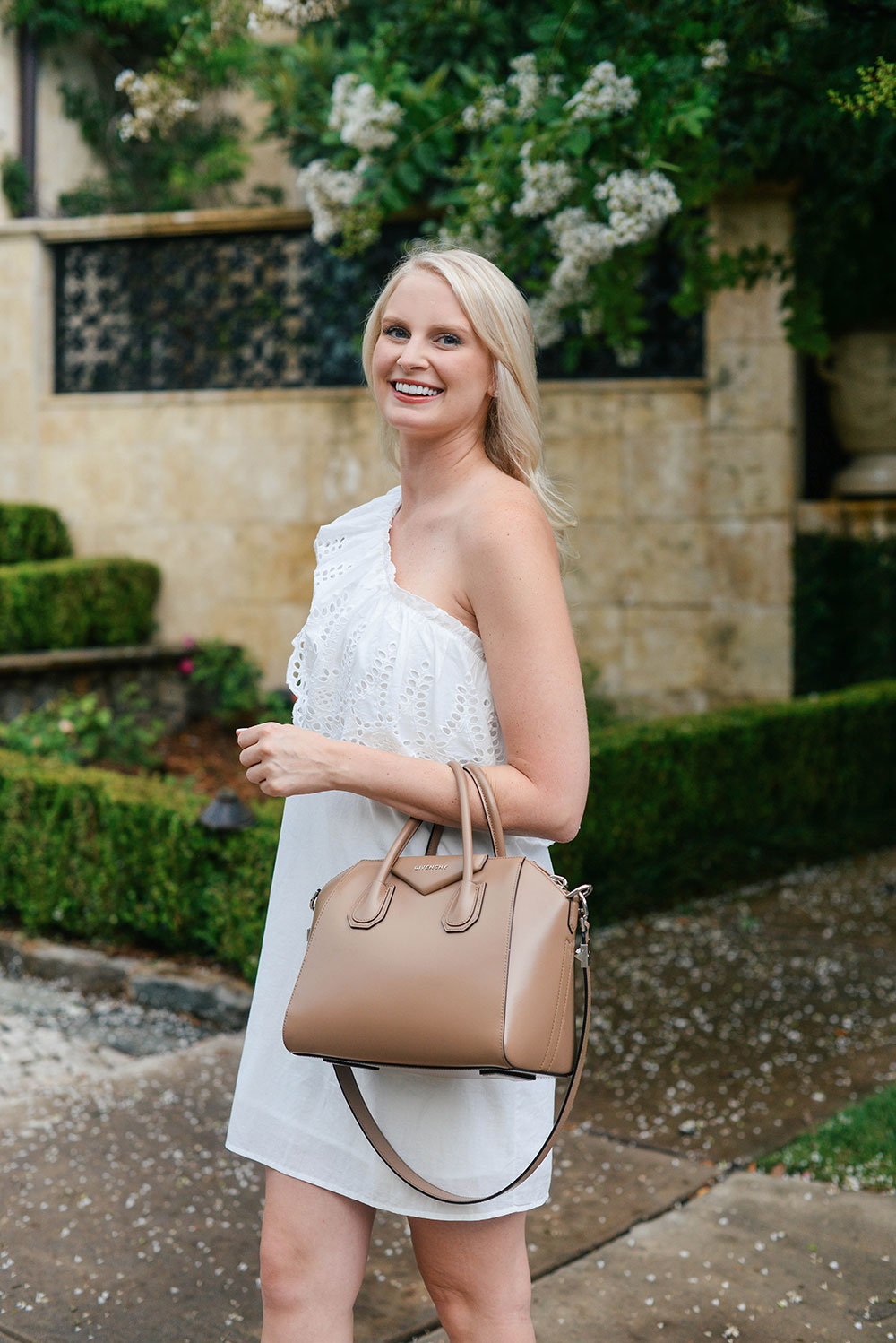 One-Shoulder Eyelet Dress | The Style Scribe