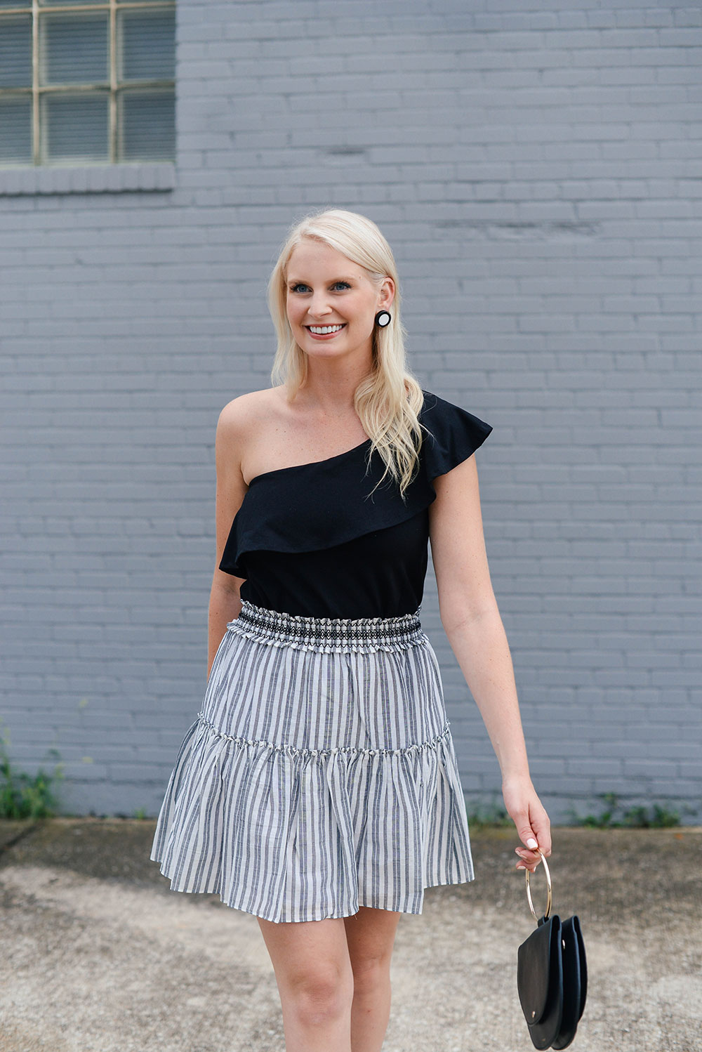 Stripe Mini Skirt | The Style Scribe